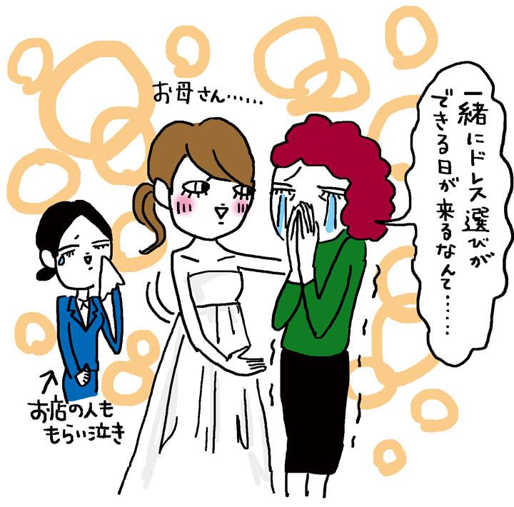 母とドレス選び