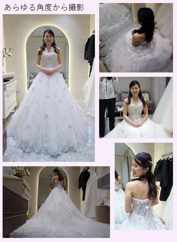 ドレスをあらゆる角度から撮った写真