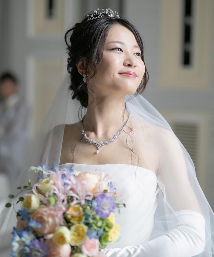 花嫁のドレス姿
