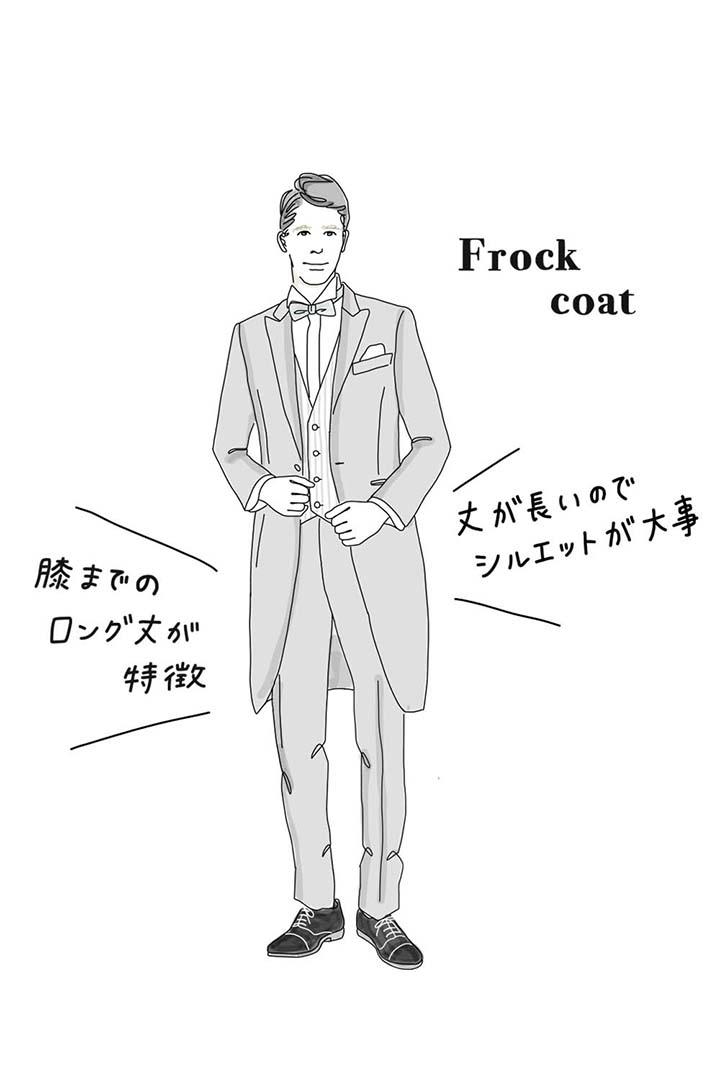 フロックコートイラスト