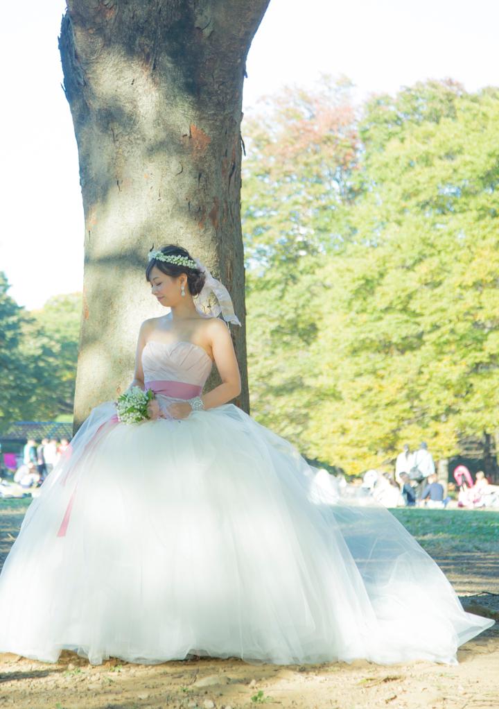 代々木公園での撮影ソロフォト