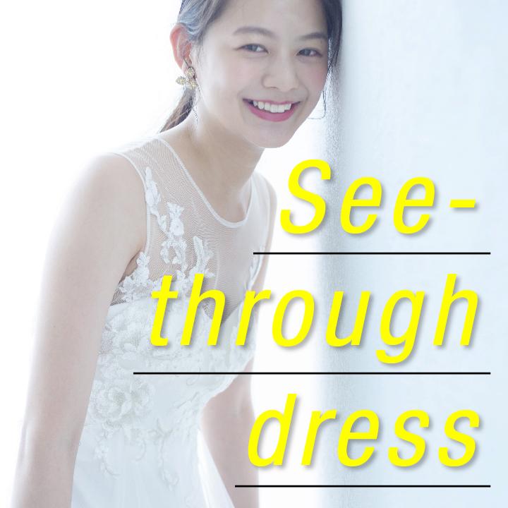 シースルードレスの画像