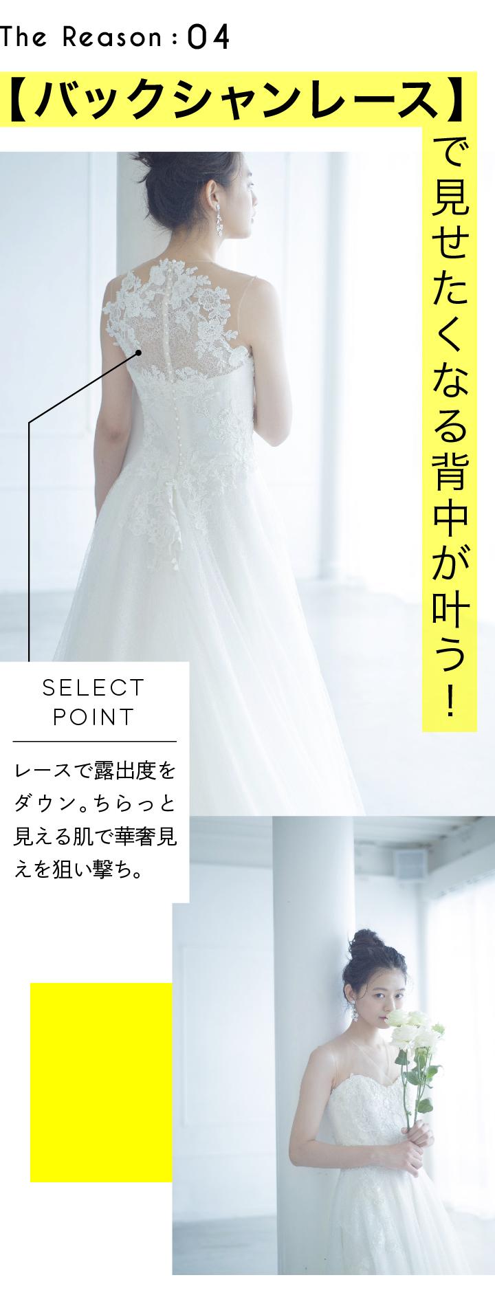 バックシャンレースのドレス画像