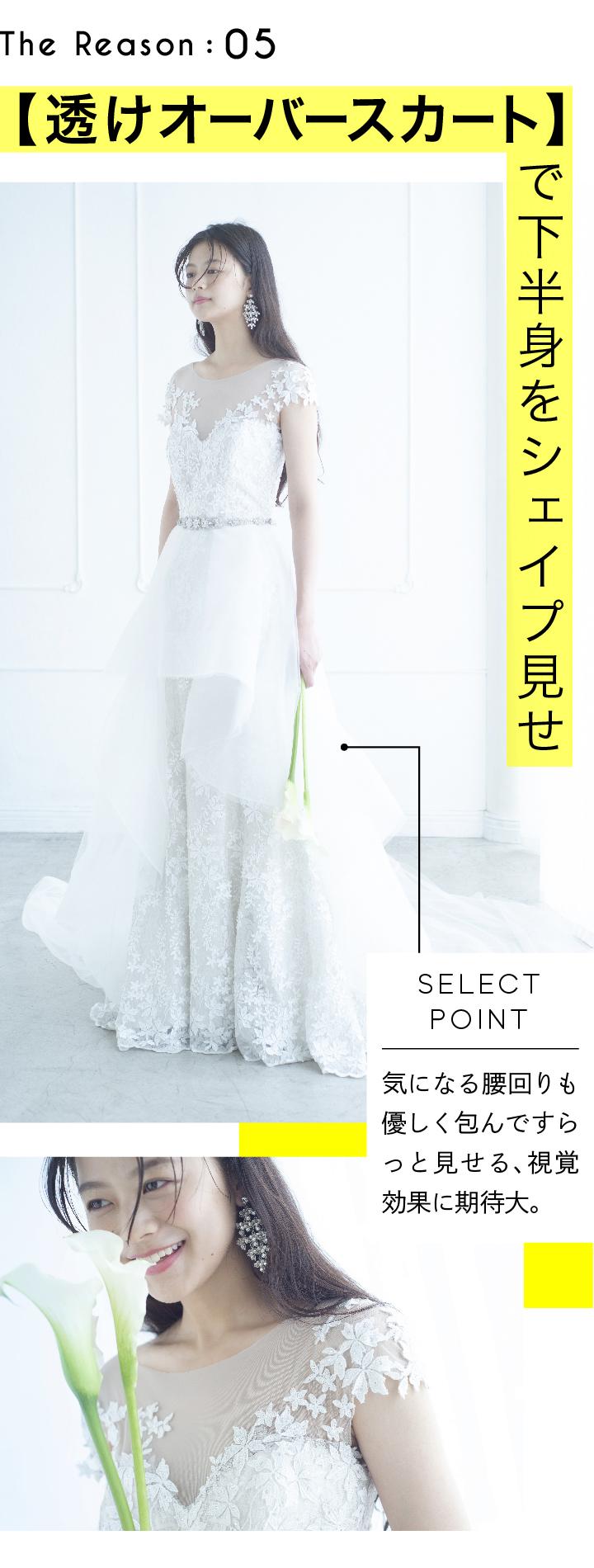 透けオーバースカートのドレス画像