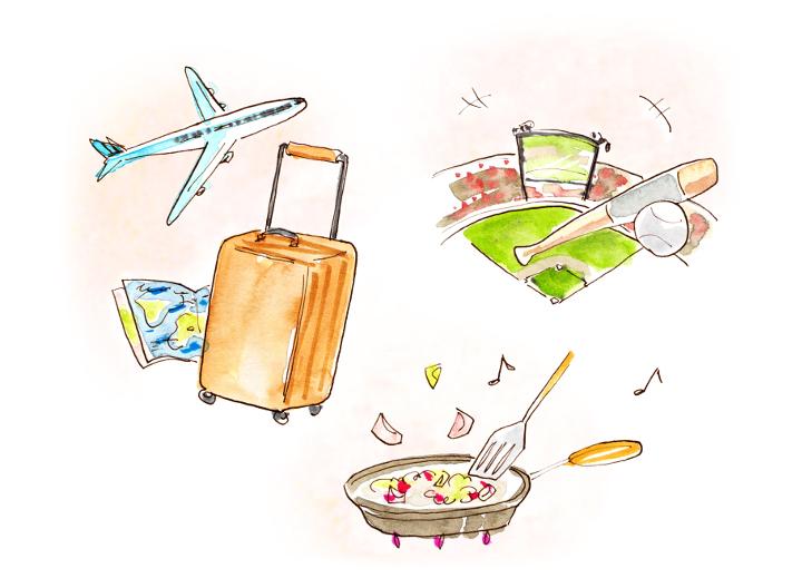 野球や旅行、料理といった親たちの共通の趣味