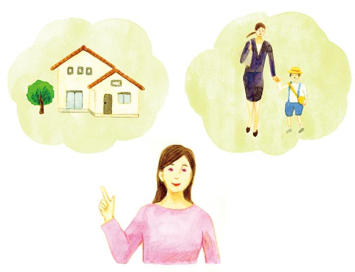結婚後の人生設計を親に伝える女性