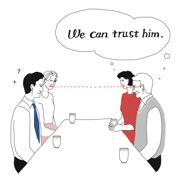 こうすれば安心1:誠実さがしっかり伝わってくる