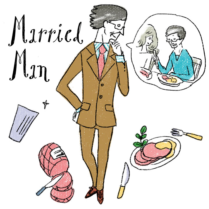 イラスト 既婚男性