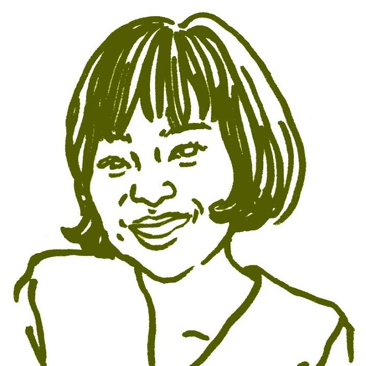 土田麻美さんの似顔絵