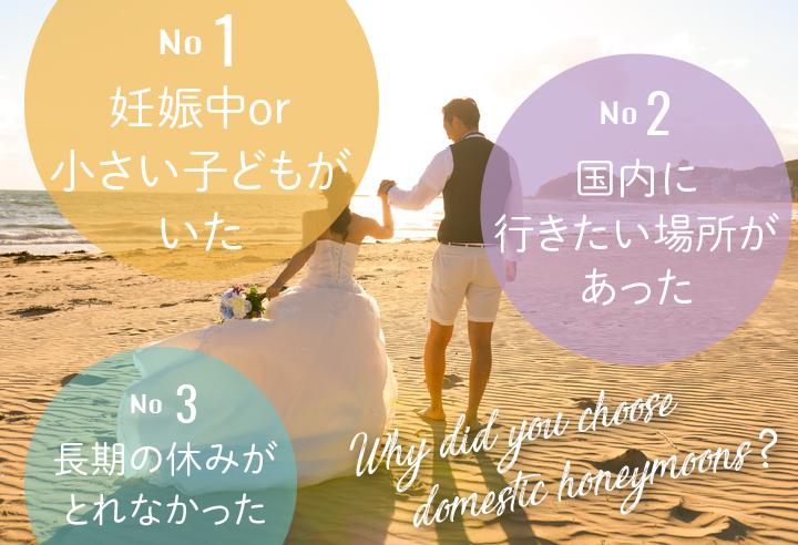 国内新婚旅行 選んだ理由