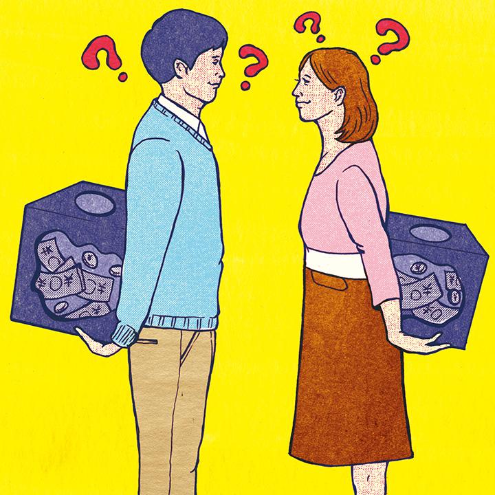 お互いに借金やローンがないか探り合い不安な夫婦