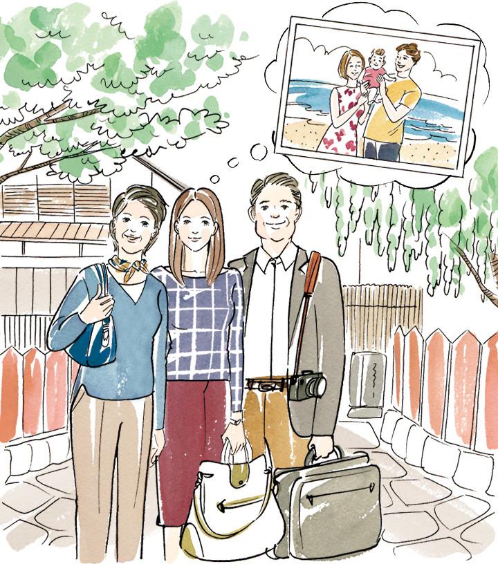 親との家族旅行(ラフ)