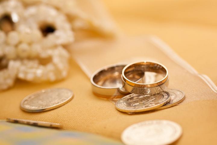 コインと指輪