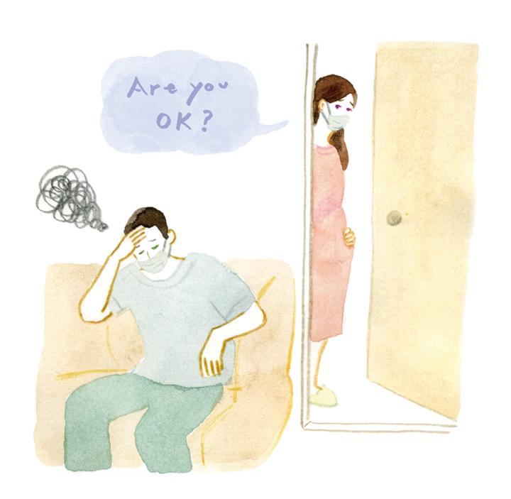 妊娠中に家族が感染したら、どうすればいいですか?