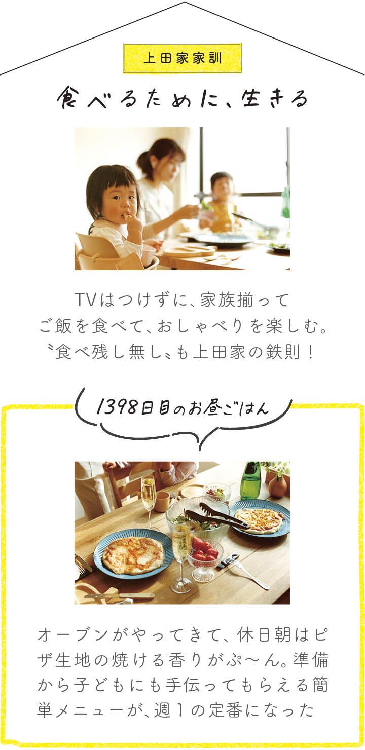 上田家の家訓 食べるために、生きる