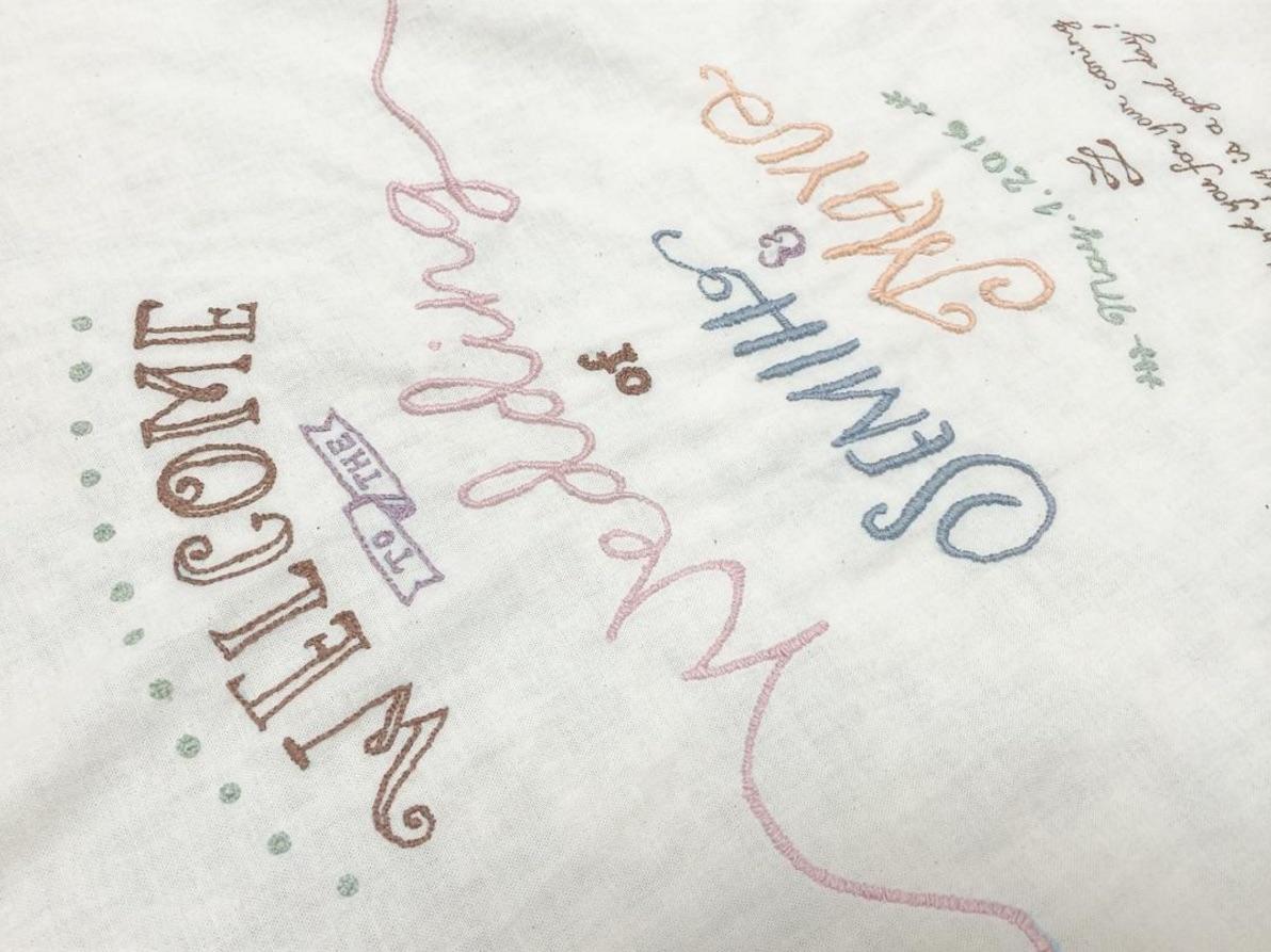 2か月かかった刺繍