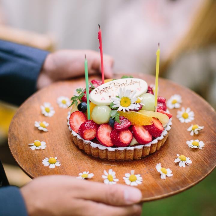 サプライズのバースデーケーキ