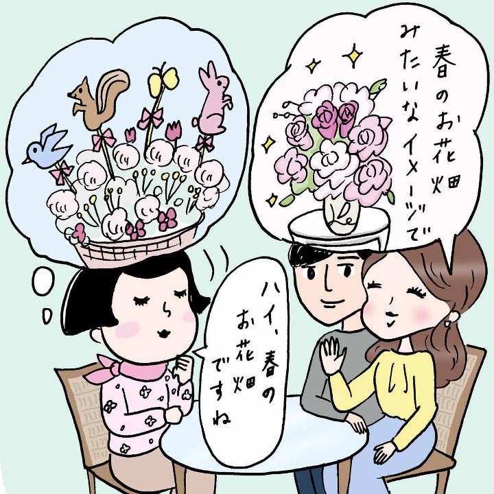 お花屋さんと思い描くイメージが異なっている場面