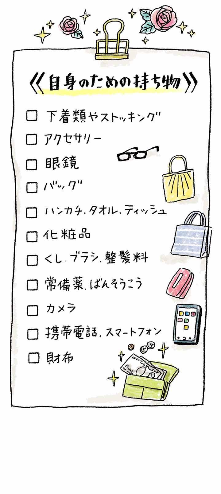 持ち物リスト2