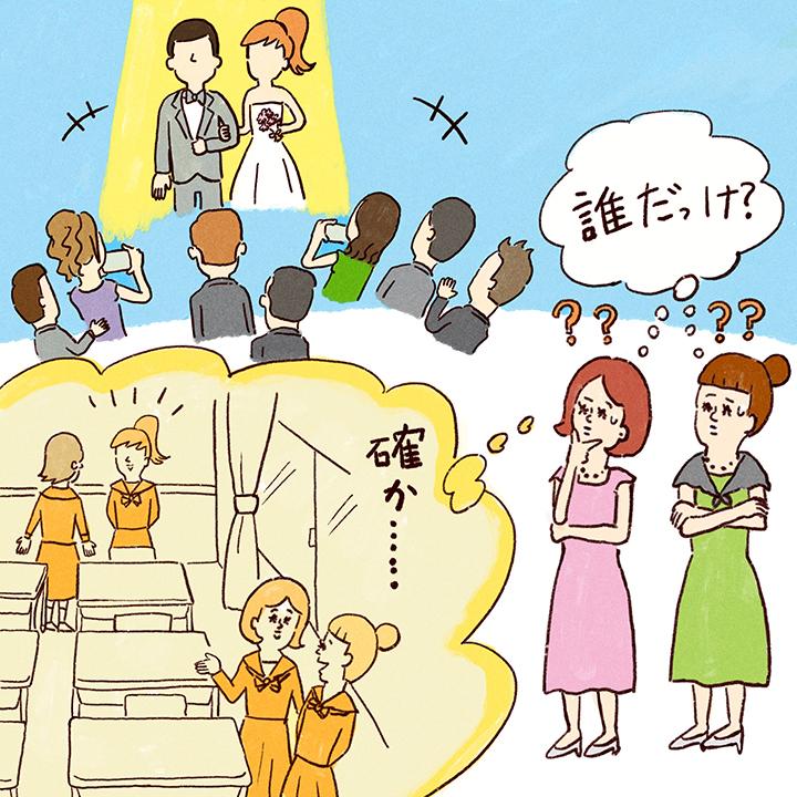 疎遠気味の花嫁から招待されて不思議がるゲストたち