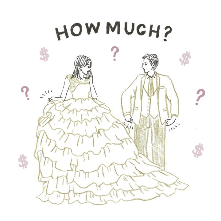 衣裳の値段を気にするふたり