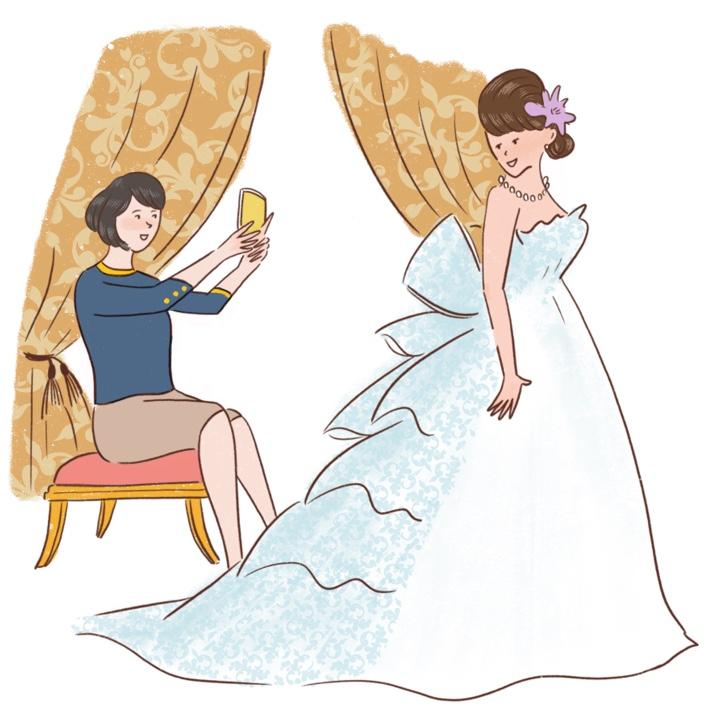 ママとドレス選び
