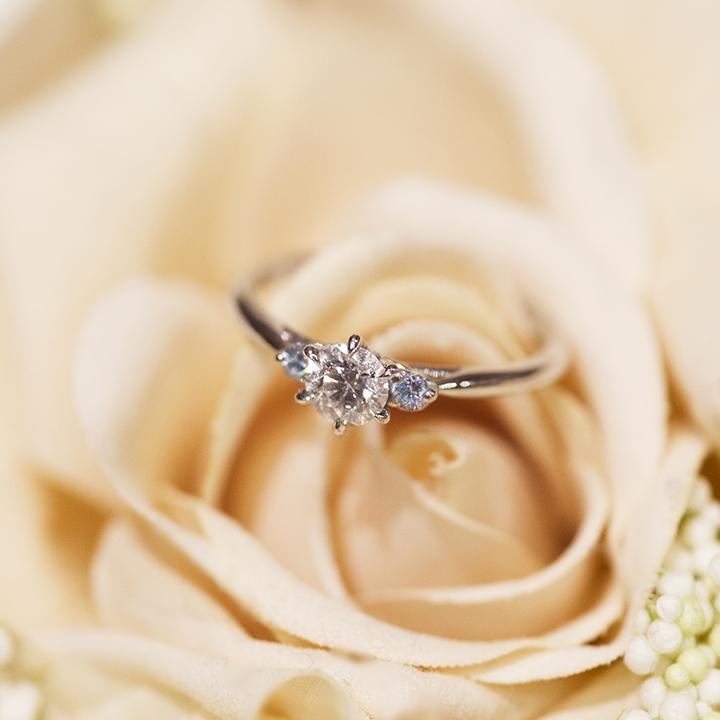 橋本さんの婚約指輪