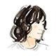 松本さんの顔イラスト