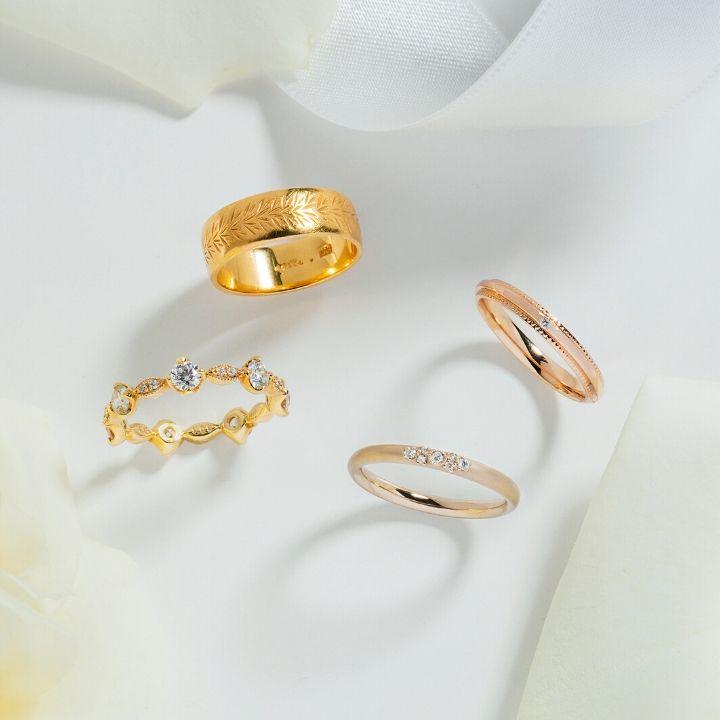 ゴールドの結婚指輪、実は選ぶのが難しい!?似合うリングの選び方