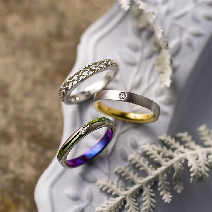 私らしさが見つかる。ダイヤ+αの結婚指輪カタログ