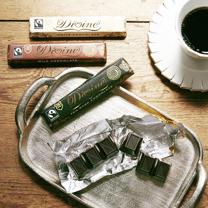 フェアトレードのチョコバー3種類
