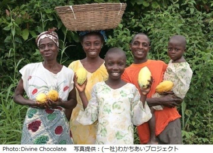 ガーナのカカオ生産者たち