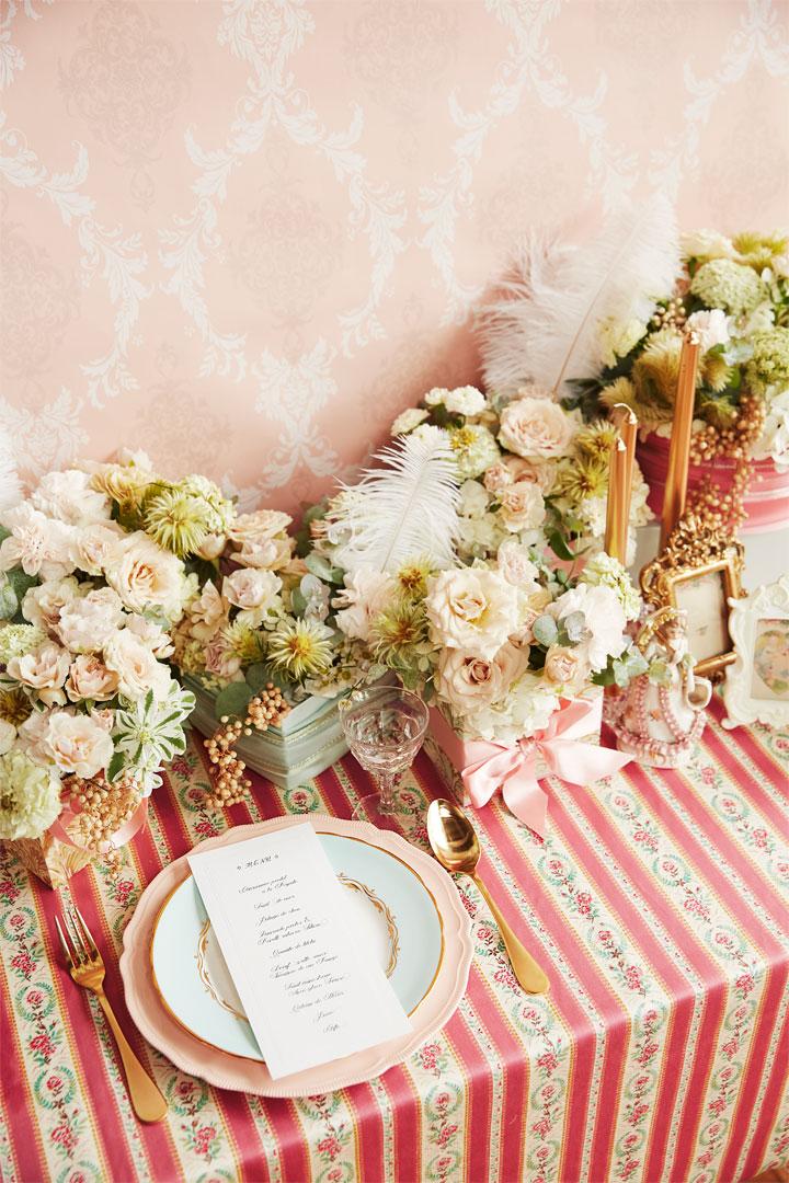 ピンク装花