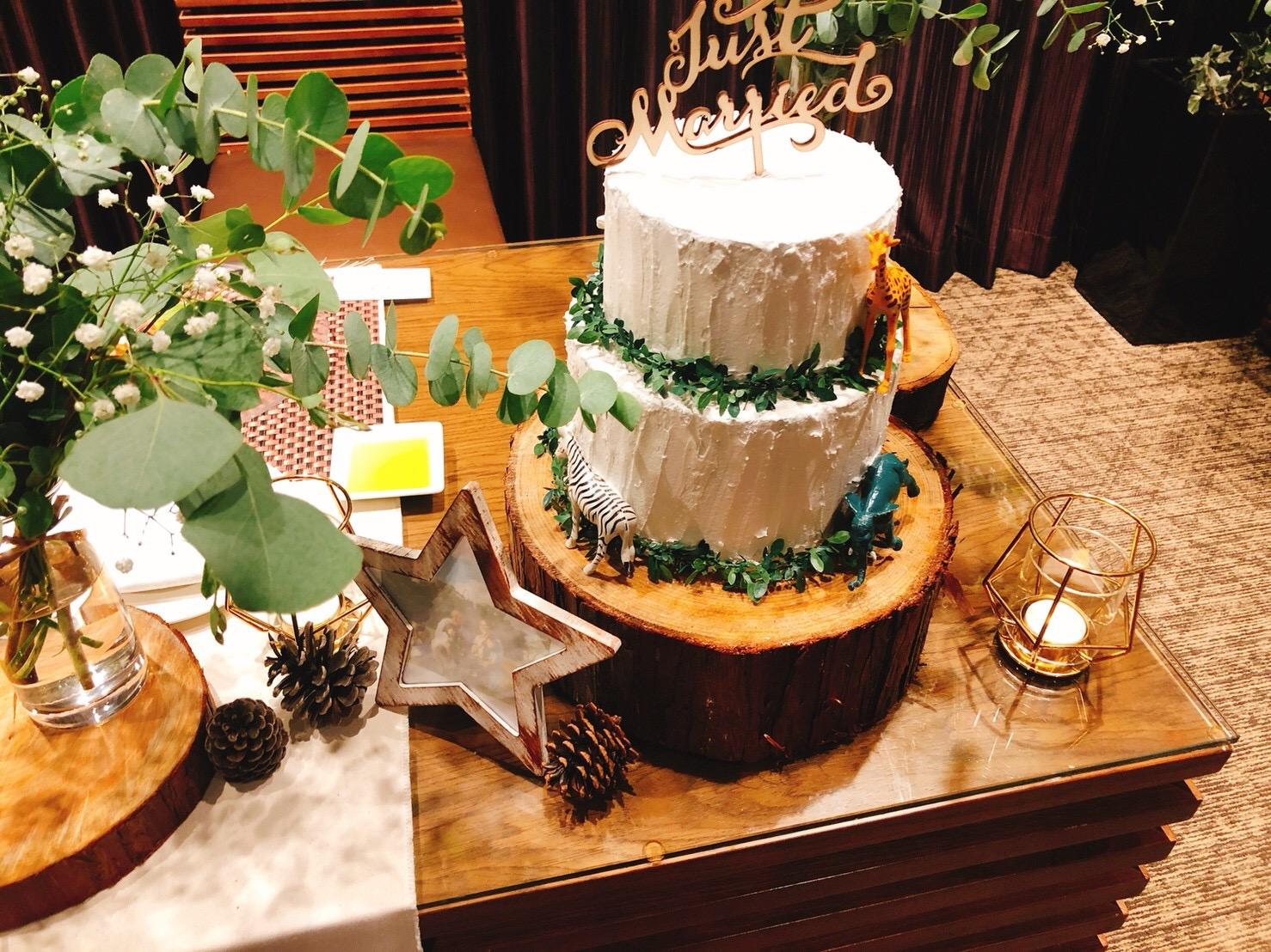 フェイクケーキのあるウエルカムスペース