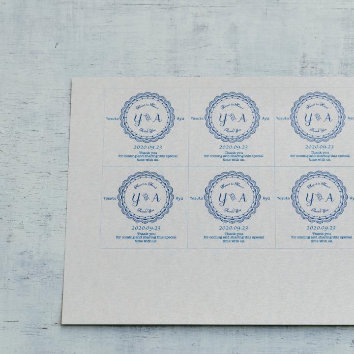 「めおとロゴ」を使った花嫁DIYアイテム、サンキュータグ(プチギフトタグ)の作り方