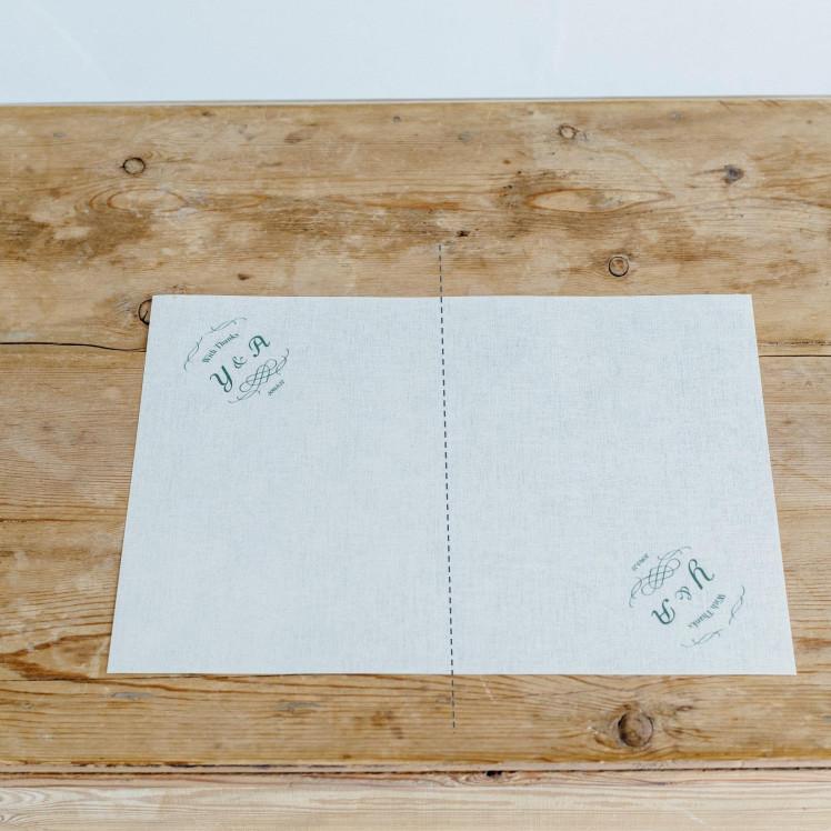 「めおとロゴ」を使った花嫁DIYアイテム。ふたりのイニシャルロゴ入りフラワーコーンの作り方