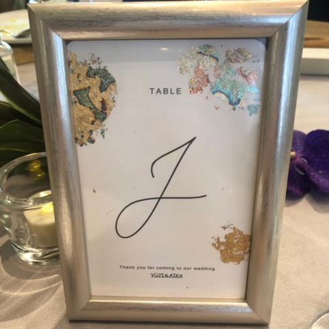 テーブルナンバー2
