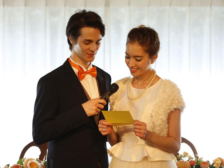 花嫁の手紙に彼への愛もしたためて