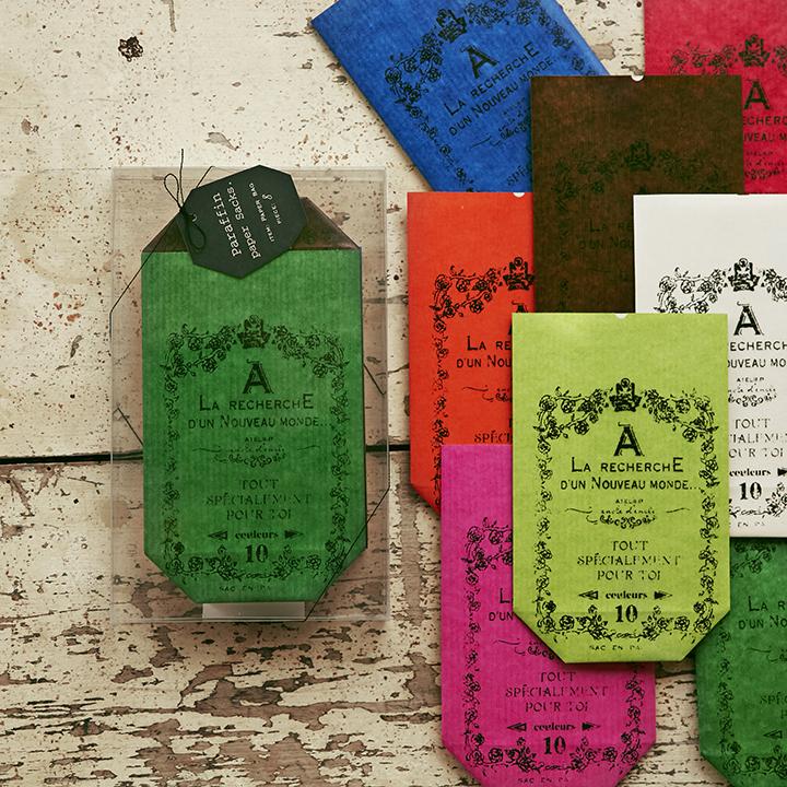 パラフィン紙袋8色セット