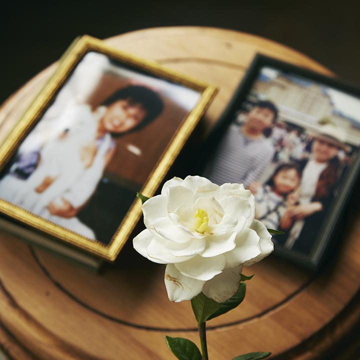 母や家族との写真