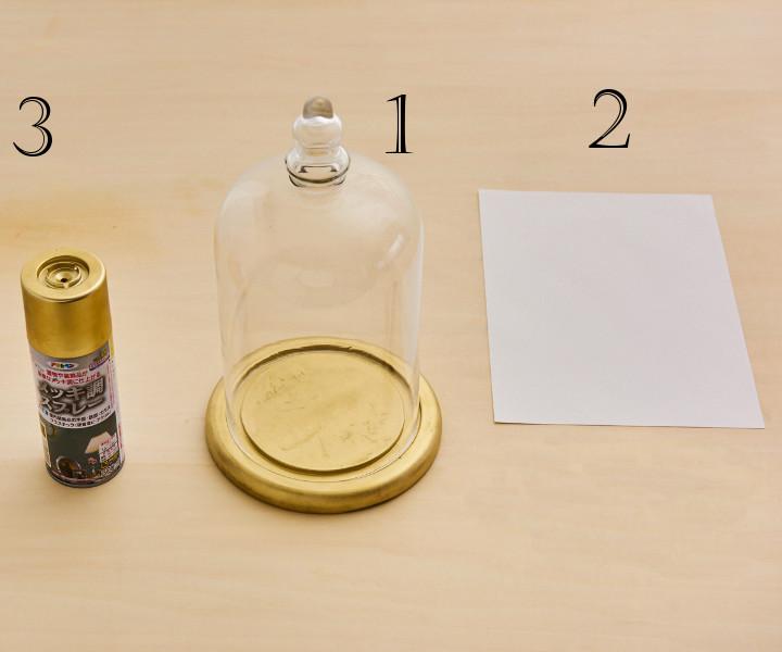 テーブルナンバー材料と道具
