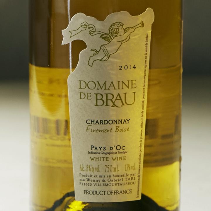 白ワインのラベル