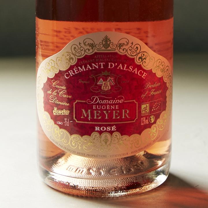 スパークリング ロゼワインのラベル