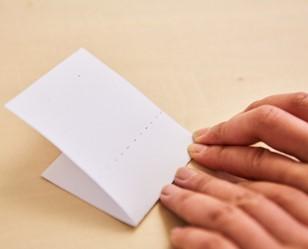 厚紙を折る