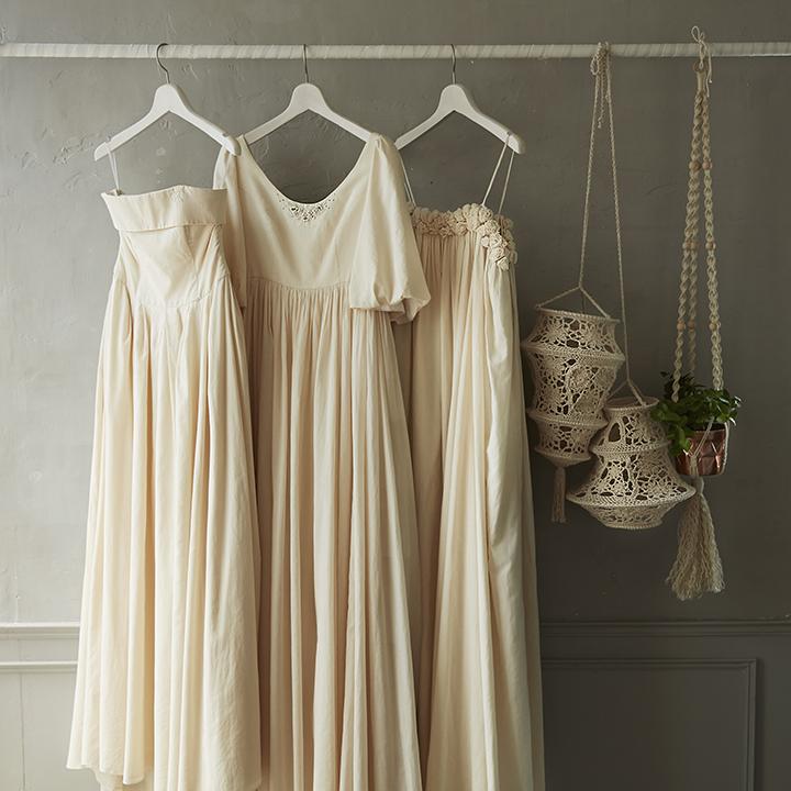 3着のウエディングドレス