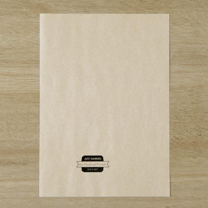 ラベルデザインを印刷したクラフト用紙