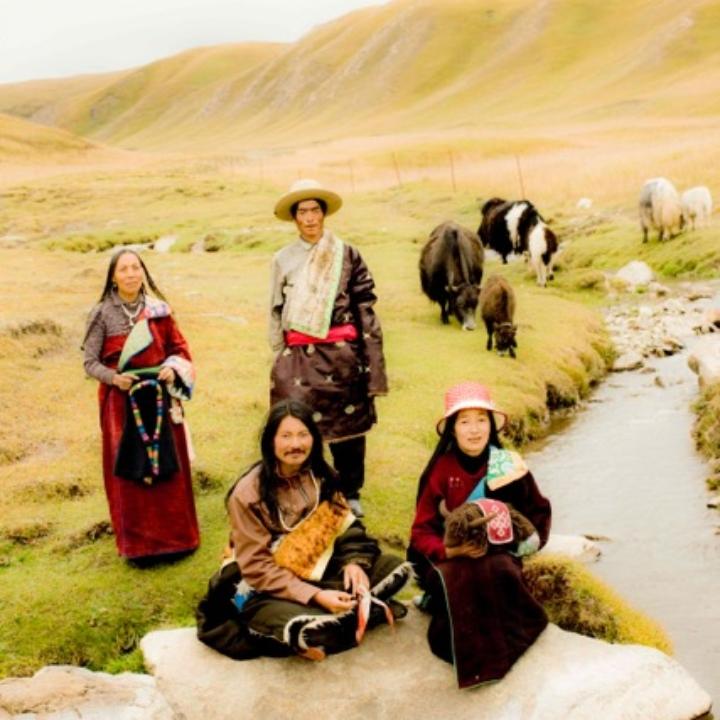 チベット族の人々