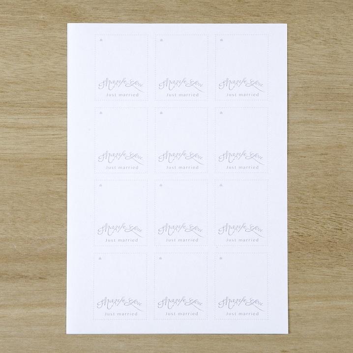 A4用紙に印刷したタグ