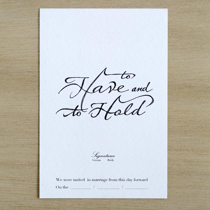 印刷した結婚証明書