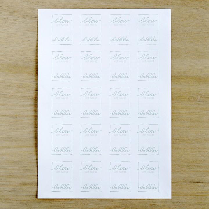 印刷したラベルシール